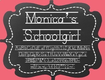 Monica's Schoolgirl {Font for Personal and Commercial Use}