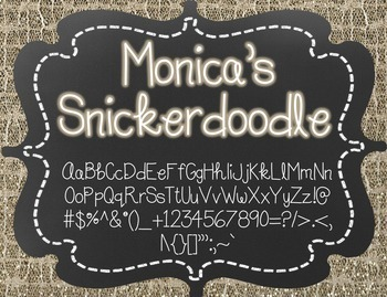Monica's Snickerdoodle {Font for Personal and Commercial Use}