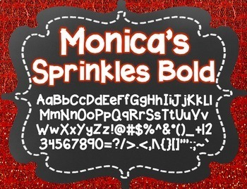 Monica's Sprinkles Bold {Font for Personal and Commercial Use}