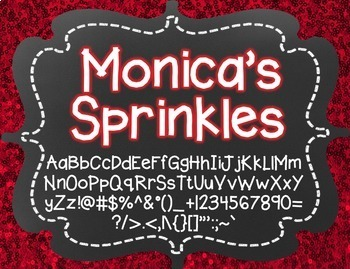Monica's Sprinkles {Font for Personal and Commercial Use}