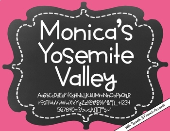 Monica's Yosemite Valley {Font for Personal and Commercial Use}