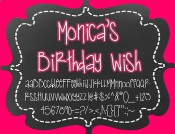 {FREE} Font - Monica's Birthday Wish