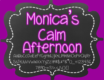 Monica's Calm Afternoon {Font for Personal and Commercial Use}