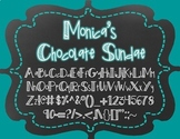 Monica's Chocolate Sundae {Font for Personal and Commercial Use}