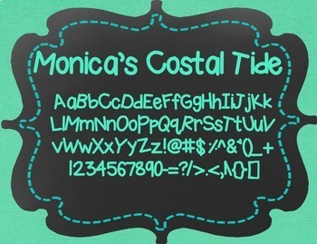 Monica's Coastal Tide {Font for Personal and Commercial Use}
