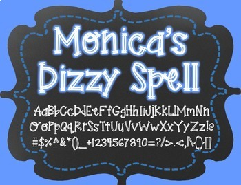 Monica's Dizzy Spell {Font for Personal and Commercial Use}
