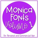 Monica Fonts - Volume 1 {10 Fonts for Personal and Commerc