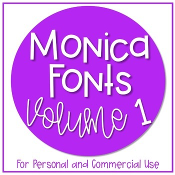 Monica's Fonts - Set #1 {10 Fonts for Personal and Commerc
