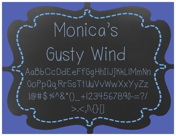 Monica's Fonts - Set #2 {10 Fonts for Personal and Commercial Use}