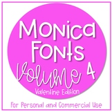 Monica's Fonts - Set #4 {9 Valentine Fonts for Personal &