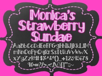 Monica's Fonts - Set #5 {10 Fonts for Personal and Commercial Use}
