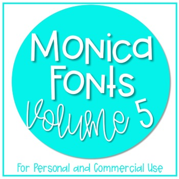 Monica's Fonts - Set #5 {10 Fonts for Personal and Commerc