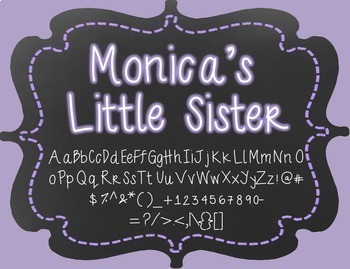 Monica's Little Sister {Font for Personal and Commercial Use}