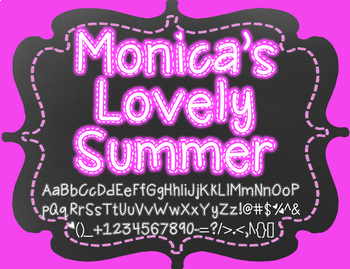 Monica's Lovely Summer {Font for Personal and Commercial Use}