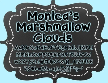 Monica's Marshmallow Clouds {Font for Personal and Commercial Use}