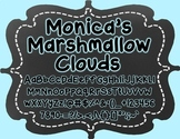 Monica's Marshmallow Clouds {Font for Personal and Commerc