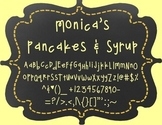 Monica's Pancakes & Syrup {Font for Personal and Commercial Use}