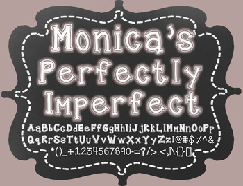 Monica's Perfectly Imperfect {Font for Personal and Commer