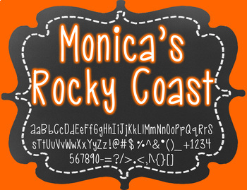 Monica's Rocky Coast {Font for Personal and Commercial Use}