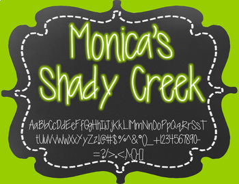Monica's Shady Creek {Font for Personal and Commercial Use}