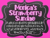 Monica's Strawberry Sundae {Font for Personal and Commercial Use}