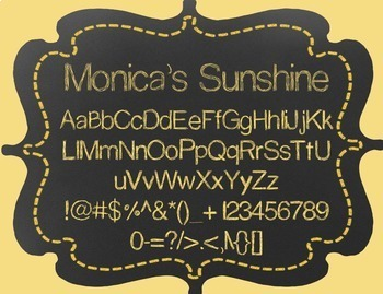 Monica's Sunshine {Font for Personal and Commercial Use}