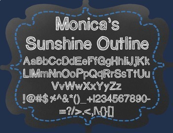 Monica's Sunshine Outline {Font for Personal and Commercial Use}