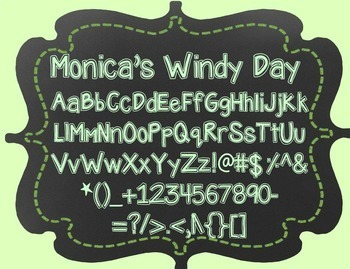 Monica's Windy Day {Font for Personal and Commercial Use}