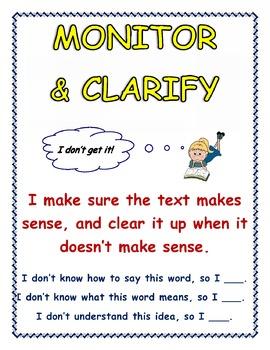 'Monitor-Clarify' Anchor Chart