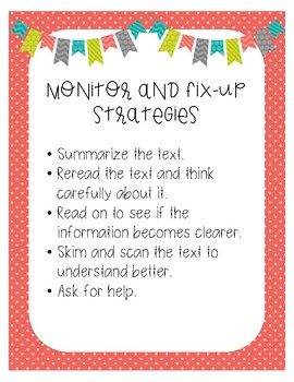 Monitor and Fix-Up Strategies Poster