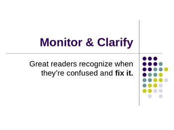Monitor/Clarify PPT