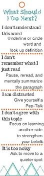 Monitoring Comprehension Bookmark