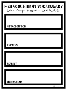 Monitoring Comprehension: Metacognition