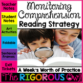 Monitoring Comprehension Reading Strategy Week Lesson and