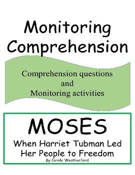 Monitoring Comprehension for the book Moses