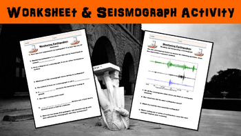 Monitoring Earthquakes No Prep Lesson with Power Point, Worksheet, and Activity