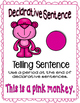 Colorful Monkey 4 sentence types posters