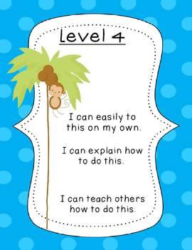 Monkey Achievement Level Posters