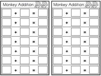 Monkey Addition -Lakeshore Recording Sheet-