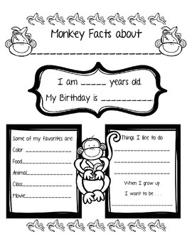 Monkey All About Me Poster