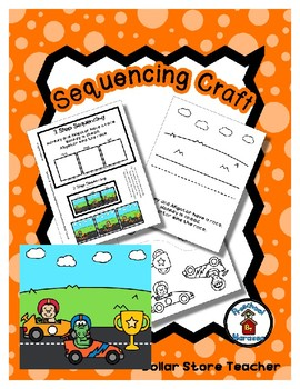 Monkey & Alligator Race - Win / Lose - Sequencing Reader Mat & Craft Page