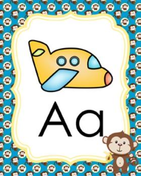 Monkey Alphabet Posters A - Z