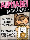 Monkey Alphabet Posters - Monkey Decor