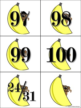 Monkey Around Numbers (100's Chart and Calendar)