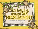Monkey Around With Measurement: Customary Units of Length - Math Centers