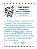 Monkey Around with Word Problems in Common Core Math Task Form