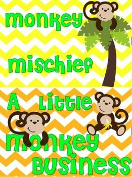 Monkey Behavior Clip Chart (Chevron)