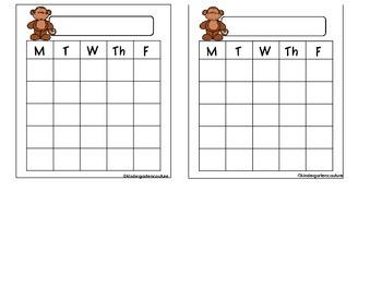 Monkey Behavior Sticker Chart -Freebie