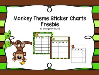 Monkey Behavior Sticker Chart -Freebie
