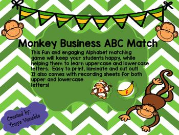 Monkey Business Alphabet Matching Game